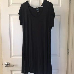 Rue + black T-shirt dress